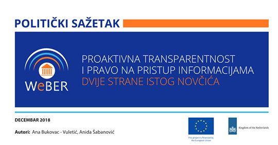 Proaktivna transparentnost i pravo na pristup informacijama: dvije strane istog novčića