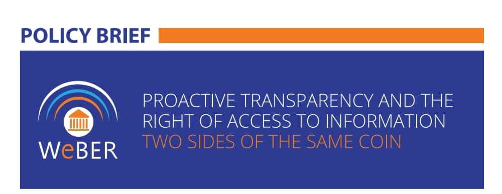 Proactive transparency and the right of access to information: Two sides of the same coin