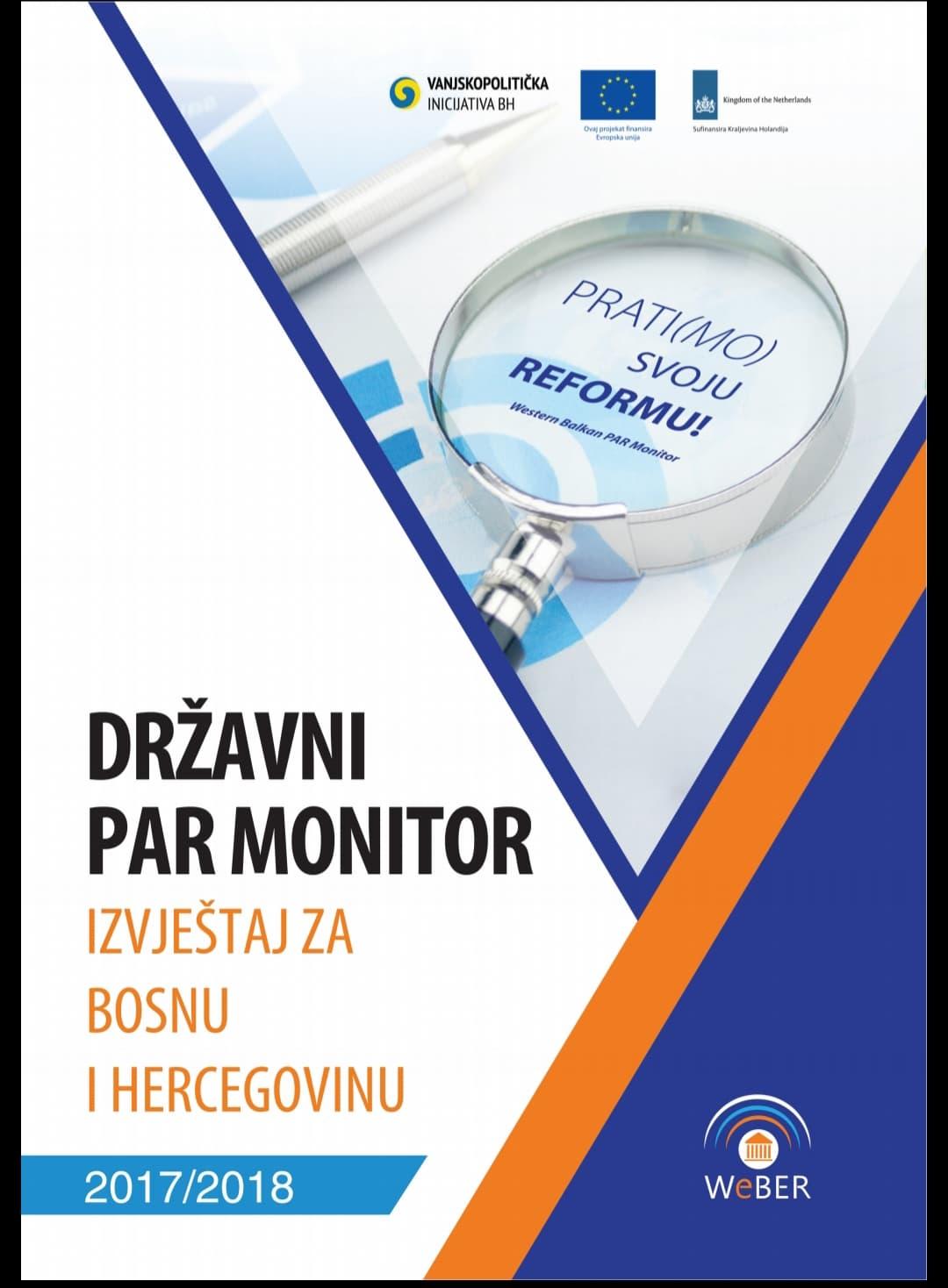 Državni PAR Monitor – Izvještaj za BiH 2017/2018