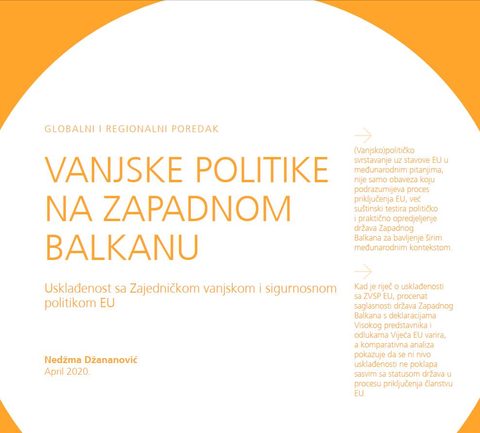 Vanjske politike na Zapadnom Balkanu – Usklađenost sa zajedničkom vanjskom i sigurnosnom politikom EU