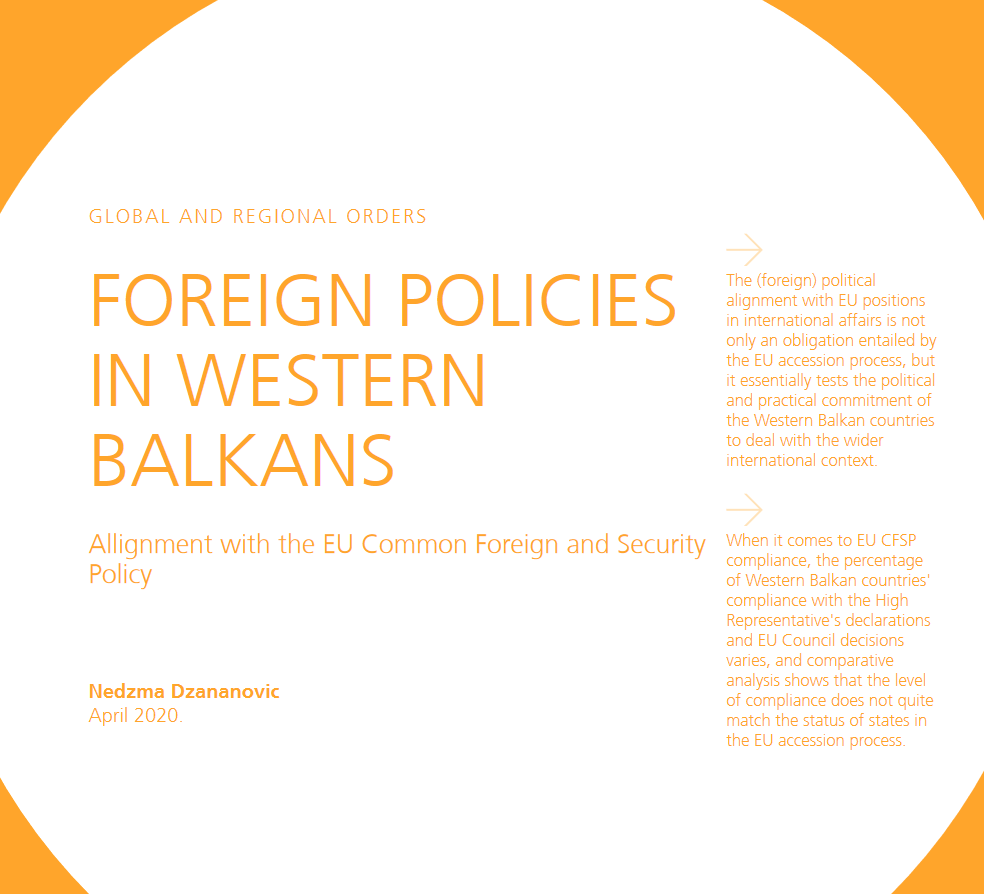 Foreign Policies in Western Balkans – Alignment with the EU Common Foreign and Security Policy