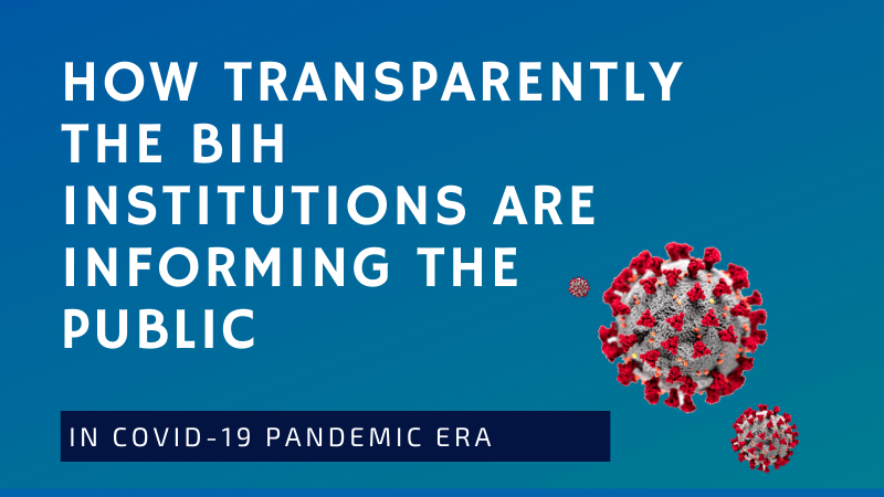 FPI BH CAMPAIGN: How transparently the BiH institutions are informing the public in COVID-19 pandemic era?